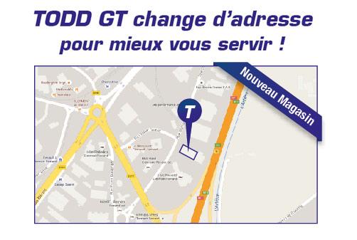 plan nouvelle adresse magasin TODD GT poids-lourds & VUL