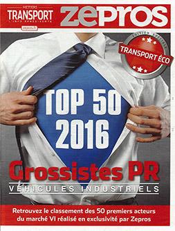 Couverture du magazine Zepros, TOP 50 Grossiste PR Véhicules Industriels, Hors-Série 2016