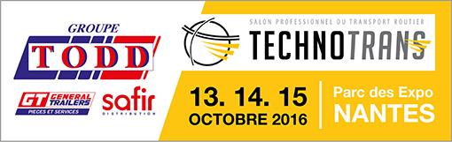 TODD présent au salon Technotrans, les 13, 14 et 15 Octobre 2016