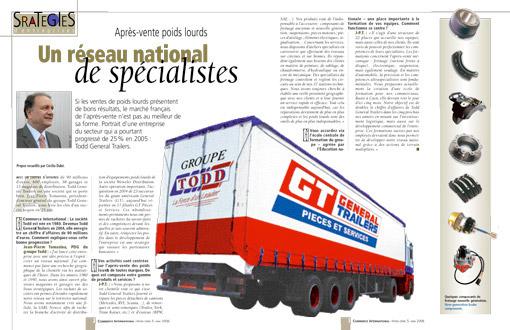 Après-vente poids lourds : un réseau national de spécialiste - Article 3 pages [img]