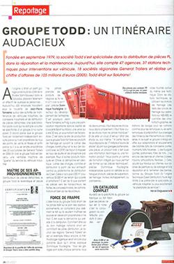 Groupe TODD : leader de la pièce détachée poids lourds - Article [img]