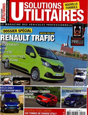 """Couverture """"Solutions utilitaires, le magazine des véhicules professionnels"""", juillet-août 2014"""
