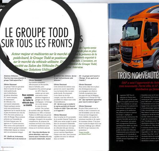 article presse dans magazine Solutions Utilitaires - miniature