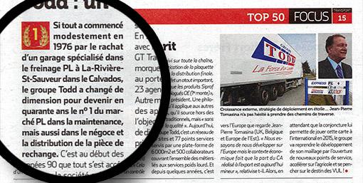 Magazine Zepros - Novembre 2014 - Article 1 sur le groupe TODD