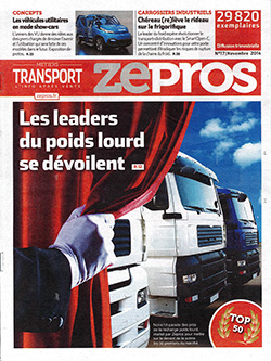 Couverture du magazine Zepros, Novembre 2014