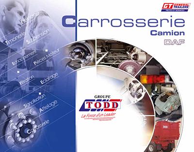 Couverture catalogue carrosserie pour DAF
