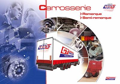 Couverture catalogue carrosserie pour remorque et semi-remorque