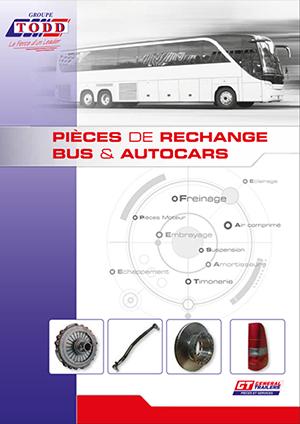 Couverture catalogue pièces de rechange bus et autocars